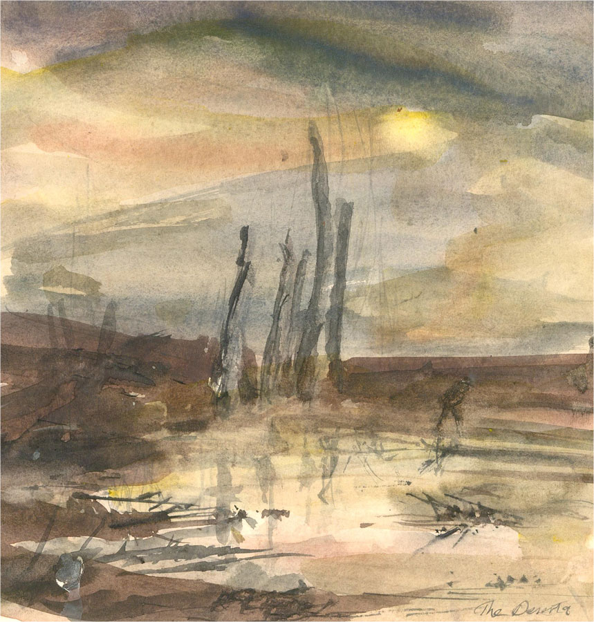 Ronald Olley (b.1923) - 20th Century Watercolour, The Deserted