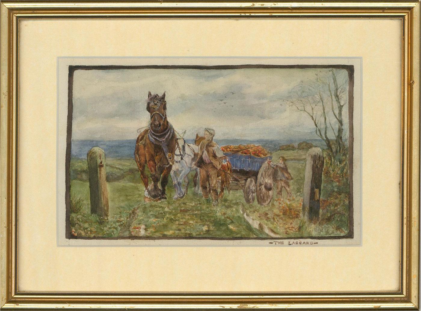 Late 19th Century Watercolour - The Laggard