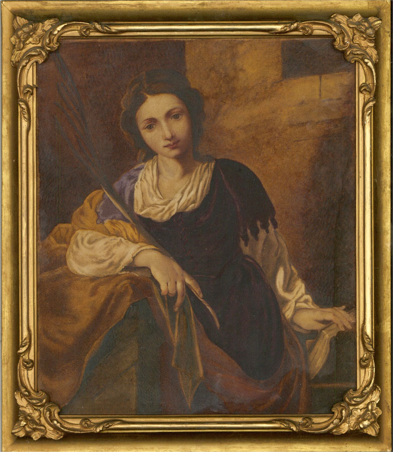 Mid 19th Century Watercolour - Girl With Book And Quill