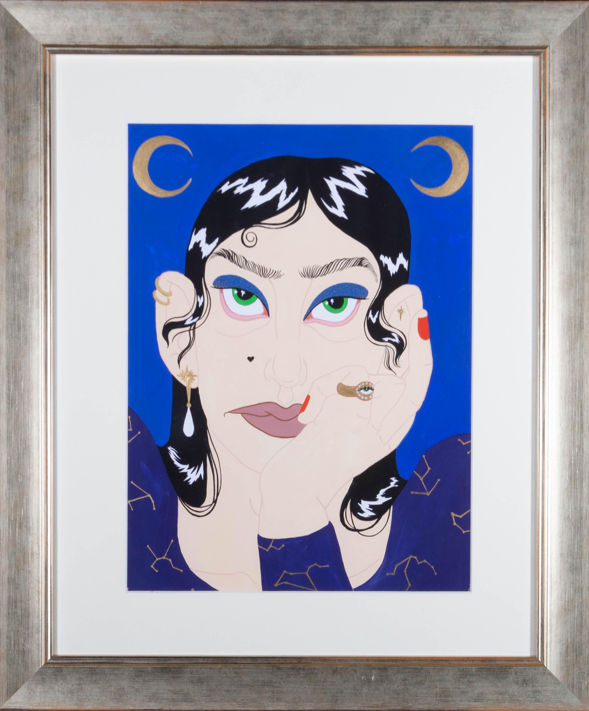 Isabelle Mulvany - Contemporary Gouache, Celestial Gaze