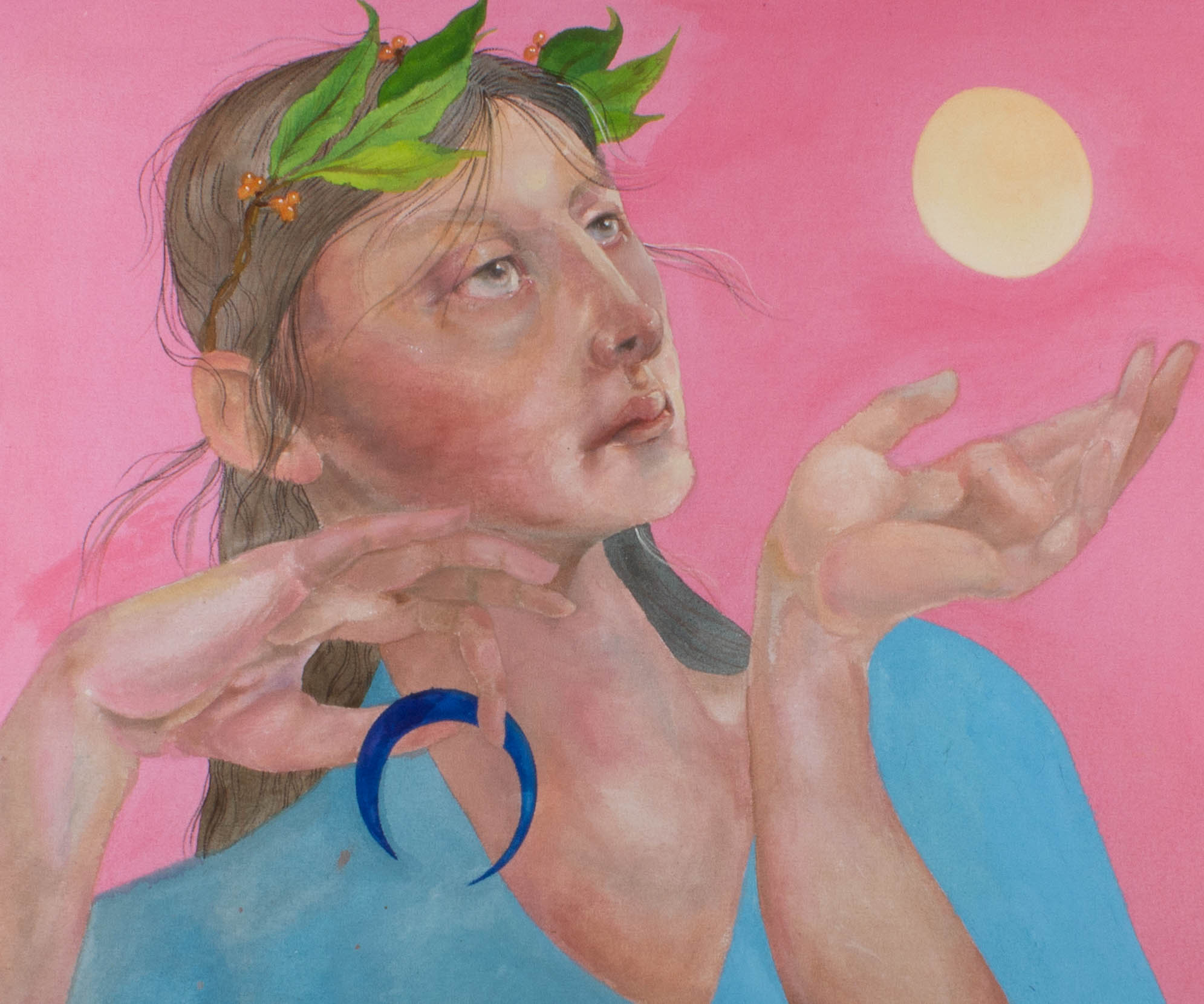 Isabelle Mulvany - 2021 Acrylic, The Moon Sinks As The Sun Rises