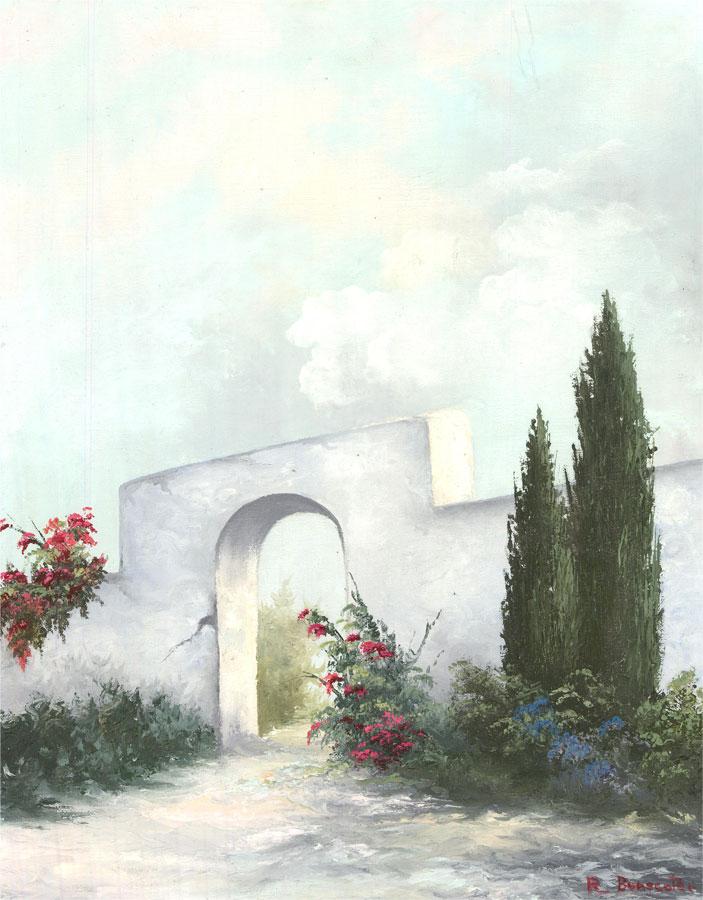 R. Benscoter - Contemporary Oil, Summer Garden