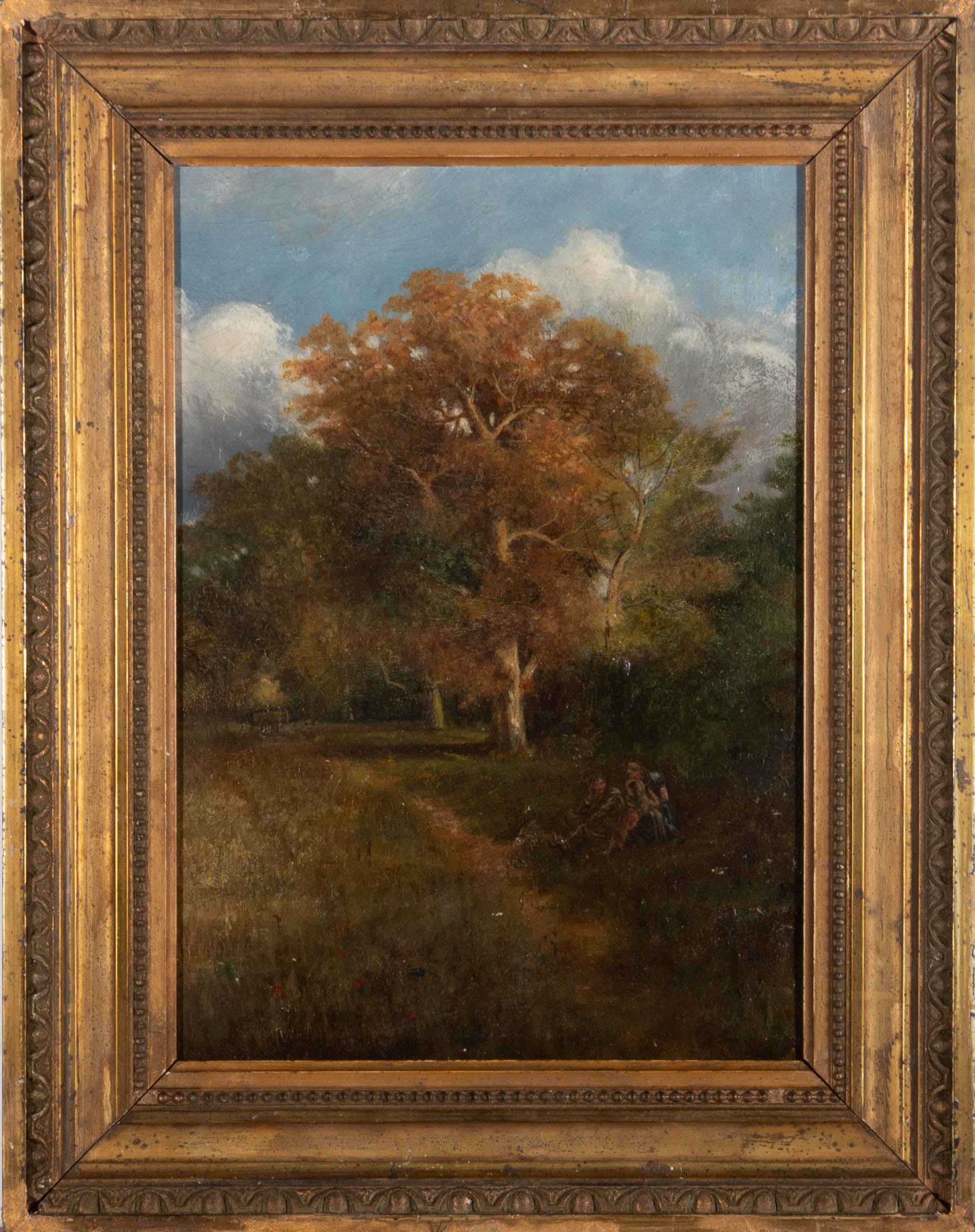 19th Century Oil - Resting In The Shade