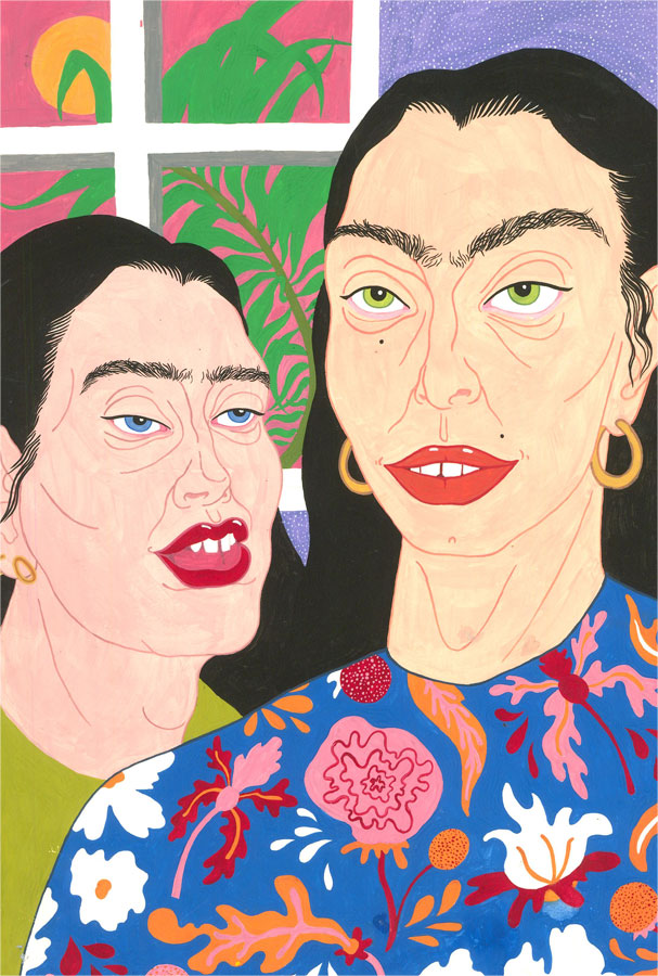Isabelle Mulvany - Contemporary Gouache, The Ladies