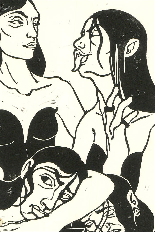 Isabelle Mulvany - Limited Run Contemporary Linoprint, The Girls