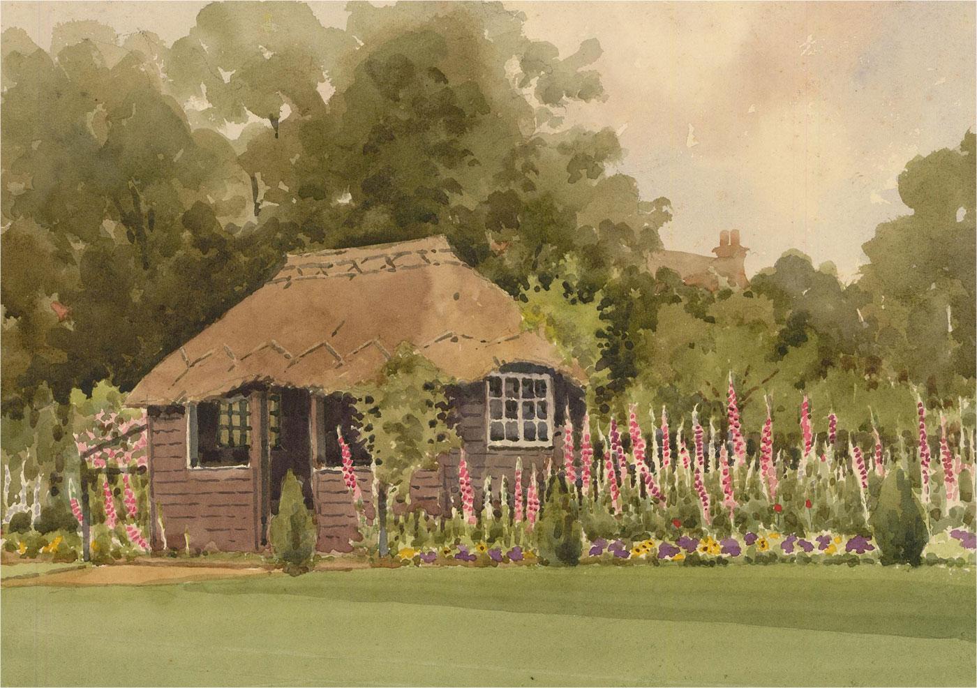 Raymond Turner Barker (1872-1945) - Early 20th Century Watercolour, Garden Scene