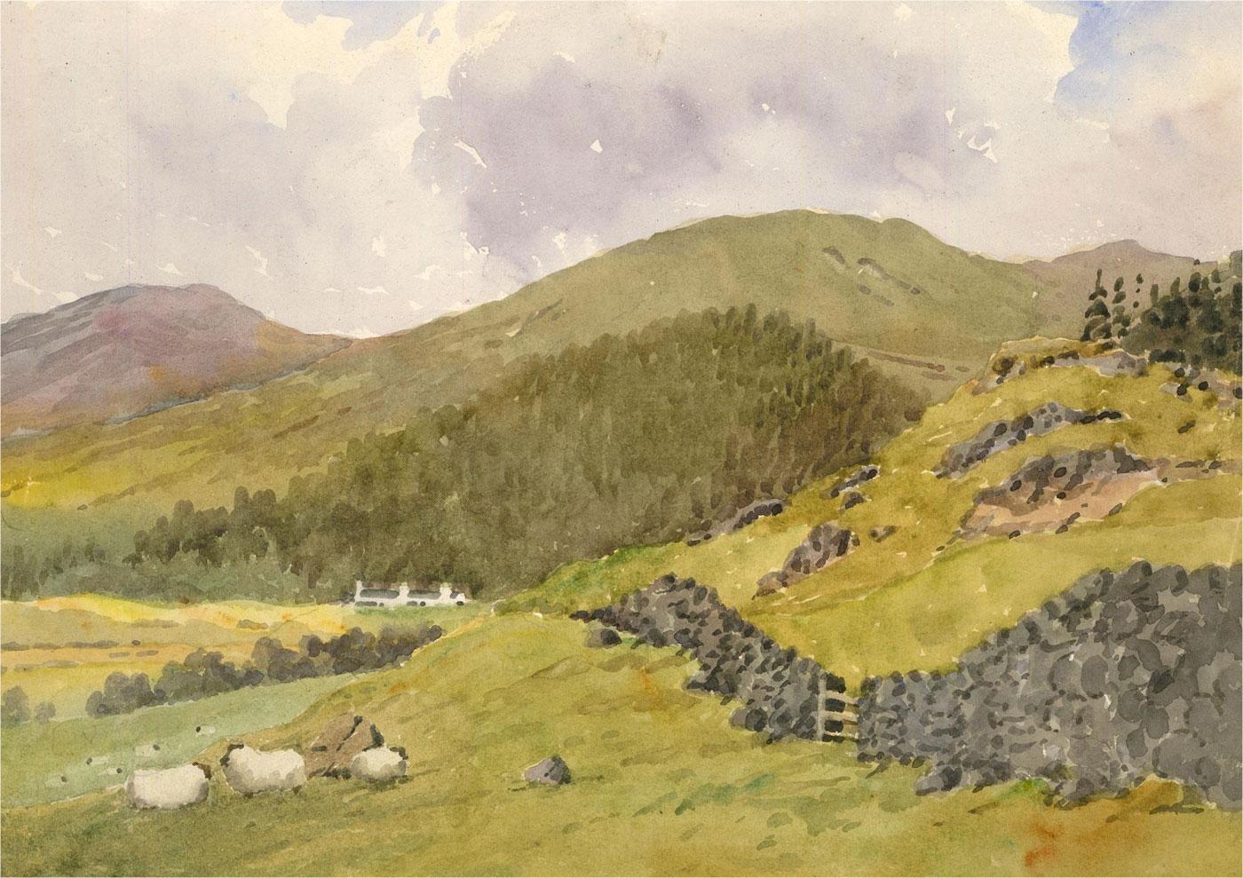 Raymond Turner Barker (1872-1945) - 1932 Watercolour, Glenshee
