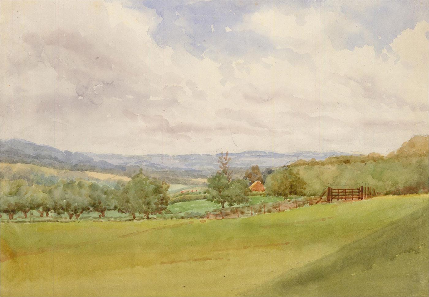 Raymond Turner Barker (1872-1945) - 1933 Watercolour, Etchingham