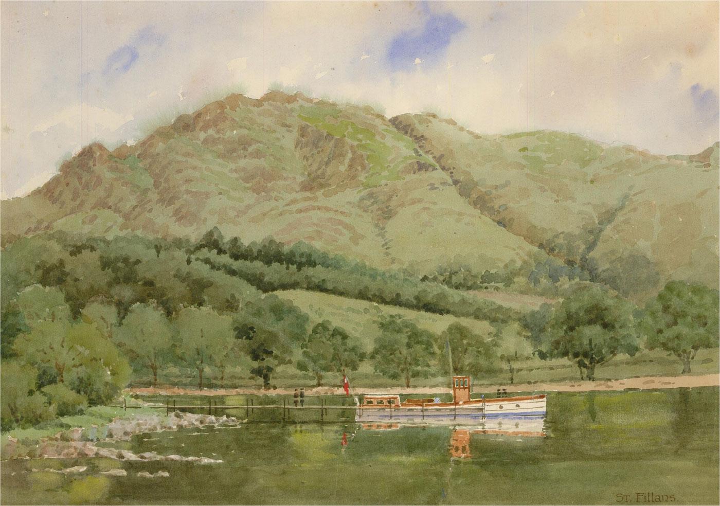 Raymond Turner Barker (1872-1945) - 1930 Watercolour, St Fillans