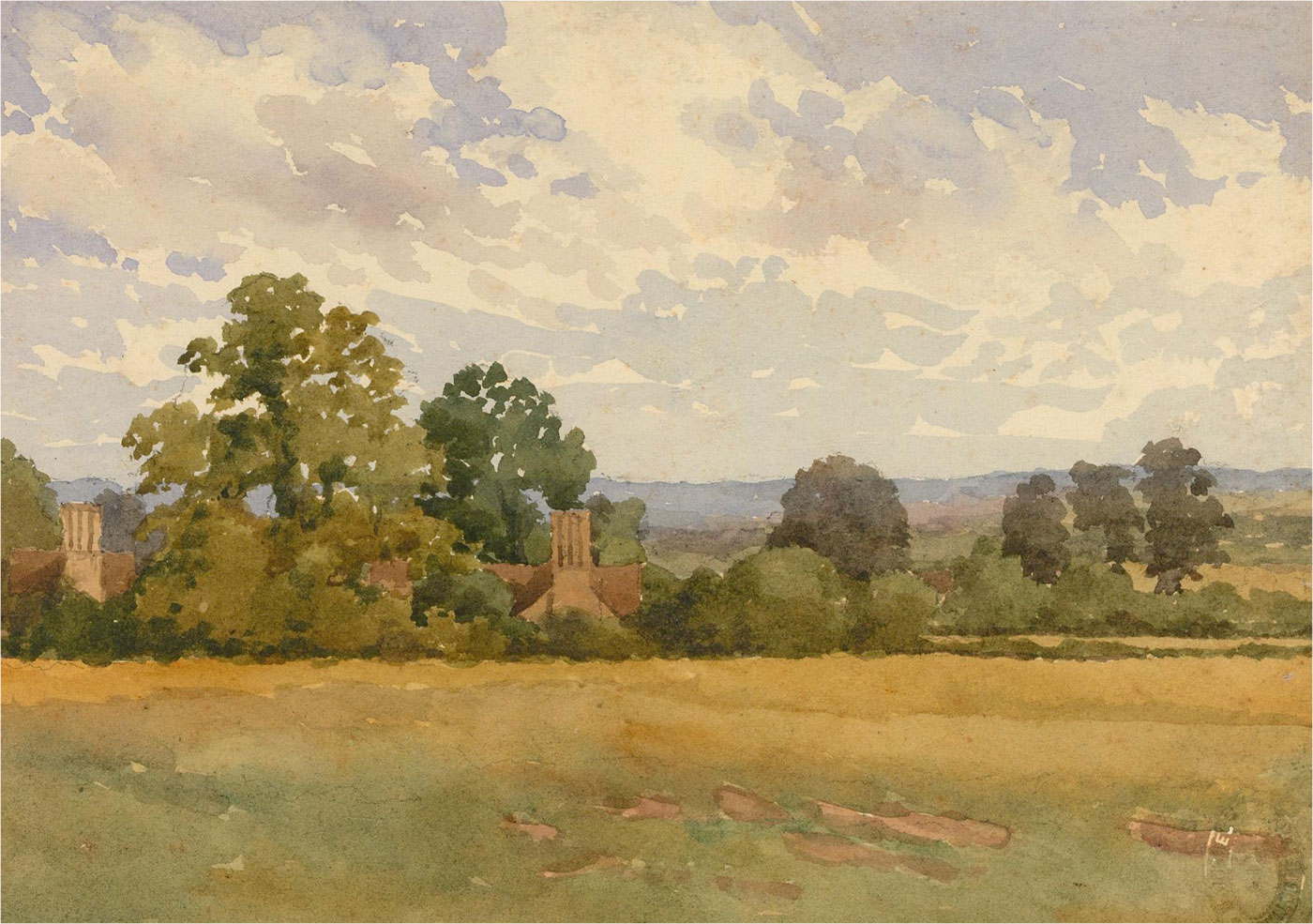 Raymond Turner Barker (1872-1945) - Early 20th Century Watercolour, Rural View