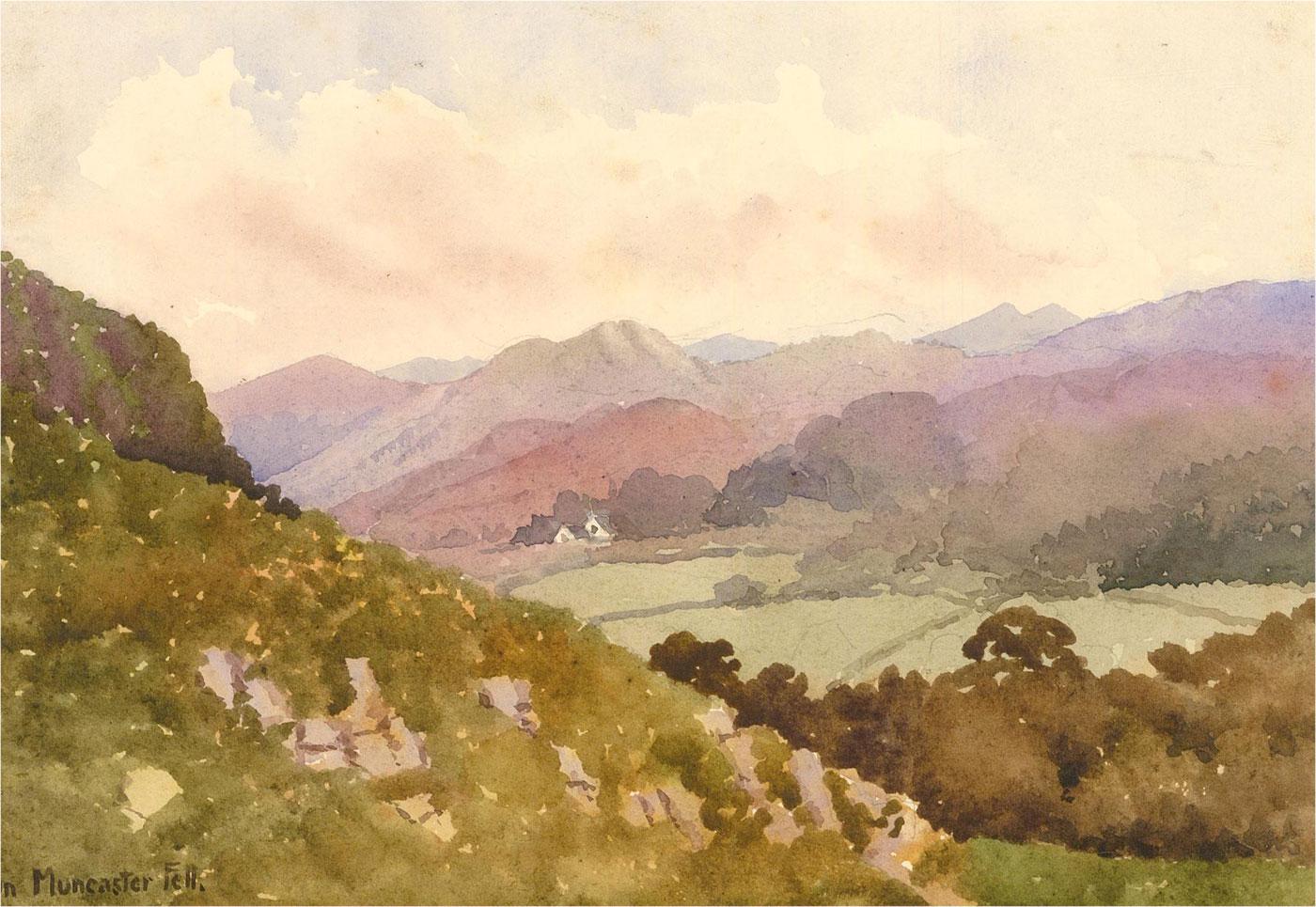 Raymond Turner Barker (1872-1945) - Watercolour, On Muncaster Fell