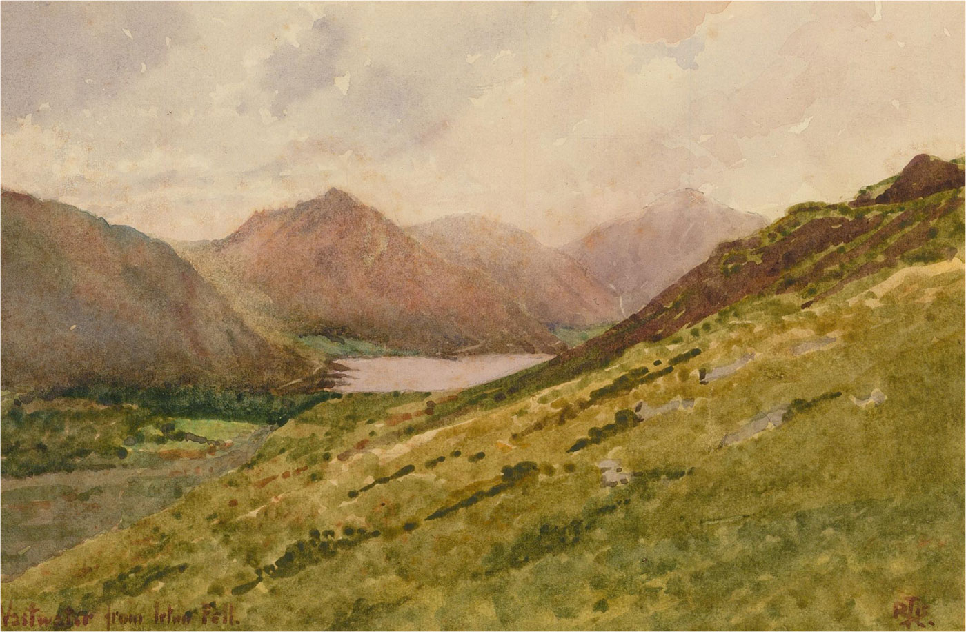 Raymond Turner Barker (1872-1945) - Early 20th Century Watercolour, Wastwater