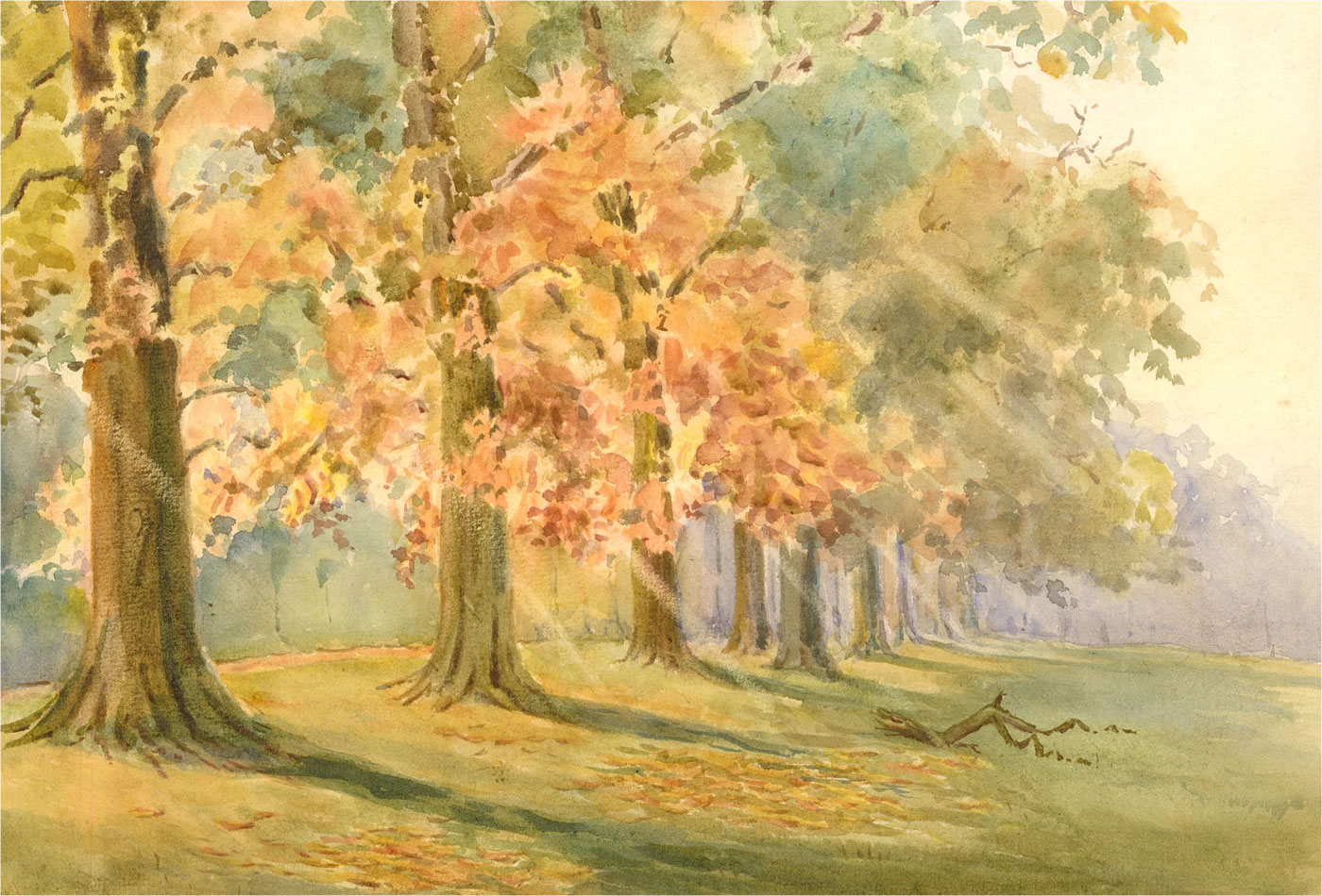 Raymond Turner Barker (1872-1945) - 1913 Watercolour, November Sun