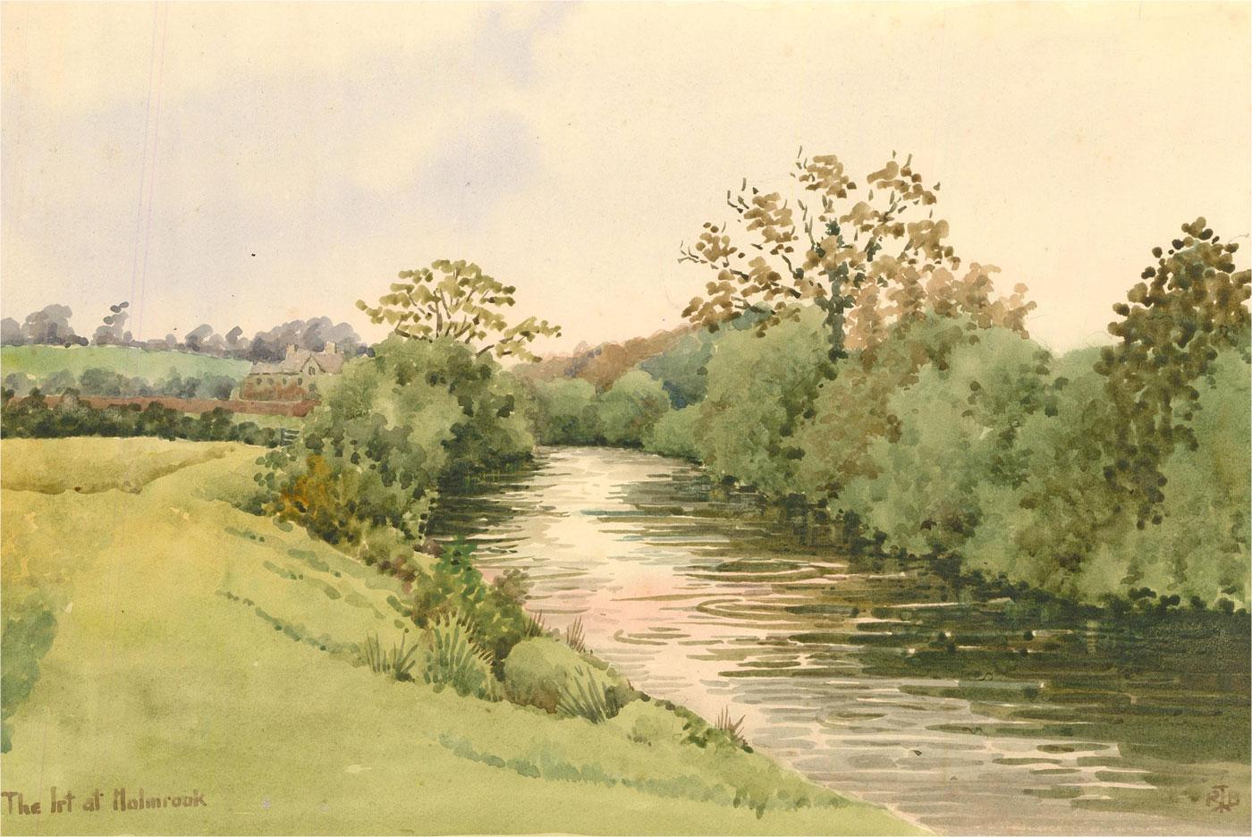 Raymond Turner Barker (1872-1945) - Watercolour, River Irt at Holmrook