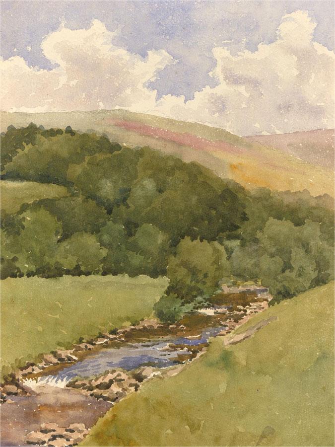 Raymond Turner Barker (1872-1945) - Watercolour, Babbling Brook