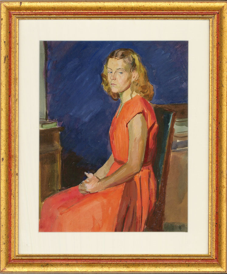 A.V. Shmidt - Russian Mid 20th Century Watercolour, Natalie