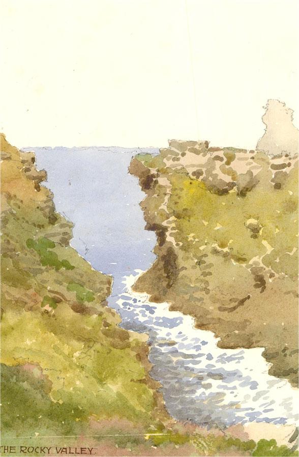 Raymond Turner Barker (1872-1945) - 1993 Watercolour, The Rocky Valley