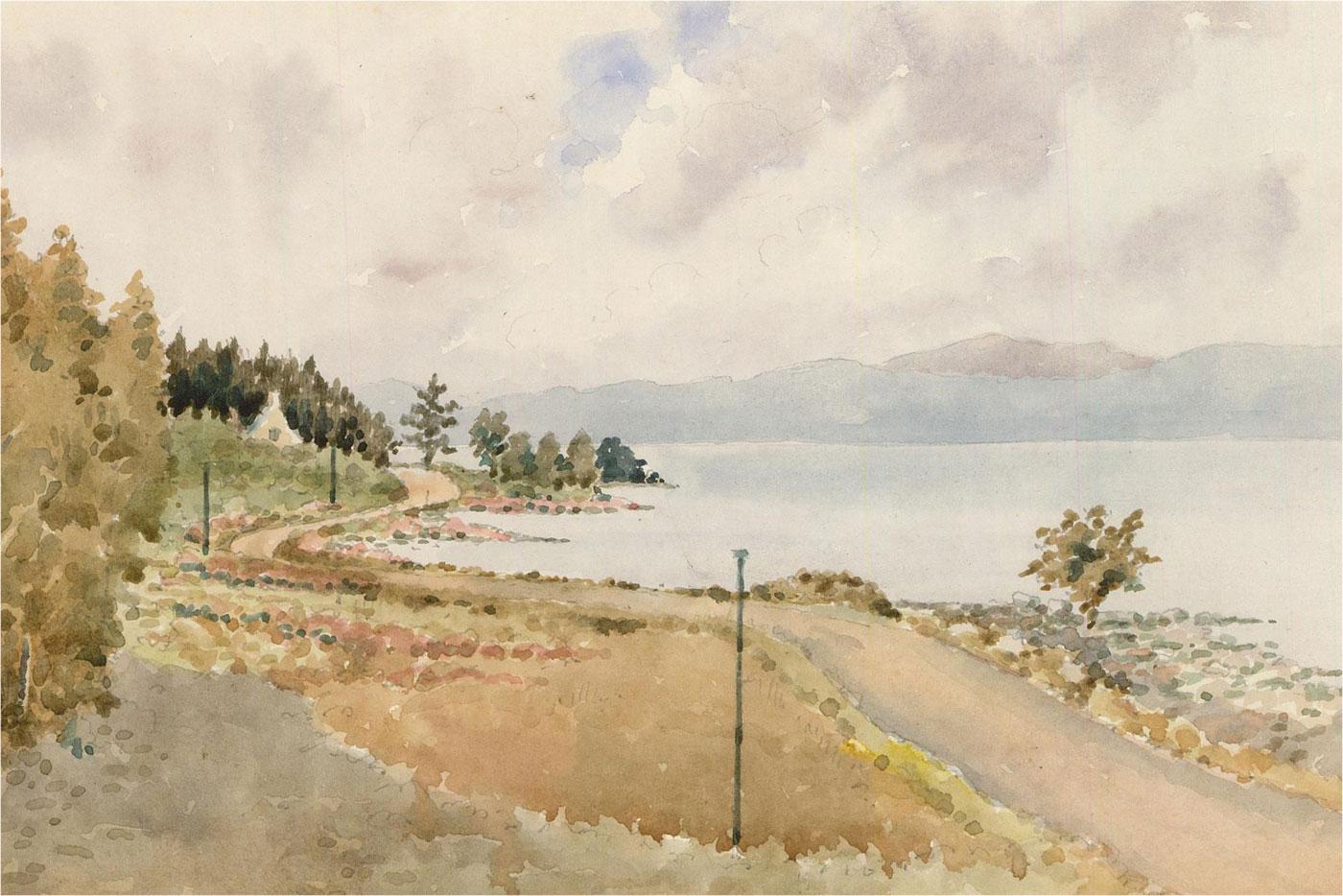 Raymond Turner Barker (1872-1945) - 1928 Watercolour, Loch Rannoch