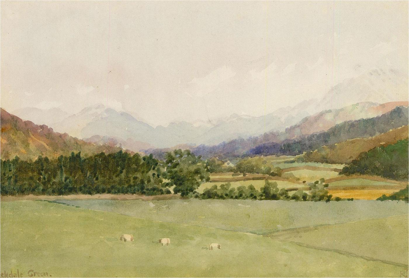 Raymond Turner Barker (1872-1945) - Watercolour, Eskdale Green