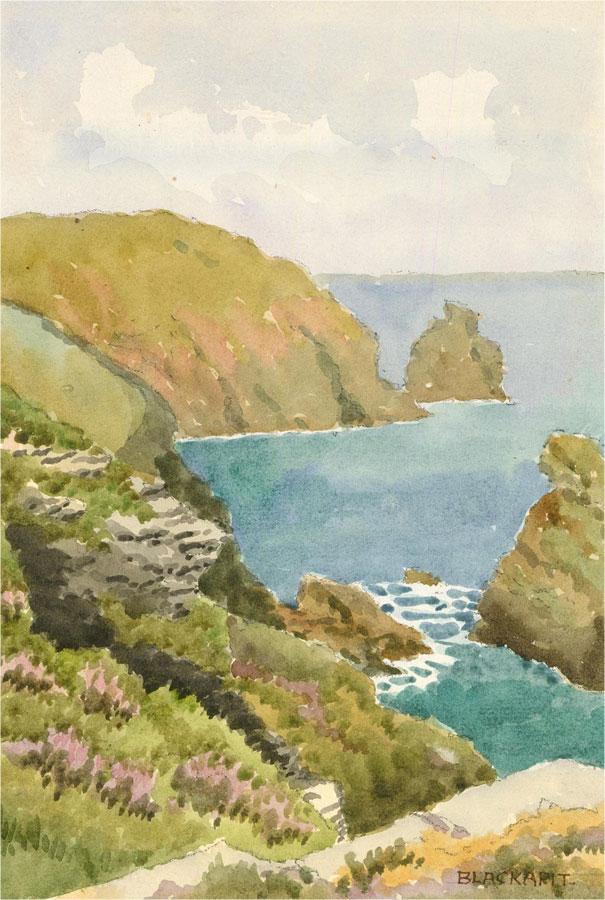 Raymond Turner Barker (1872-1945) - Early 20th Century Watercolour, Blackapit