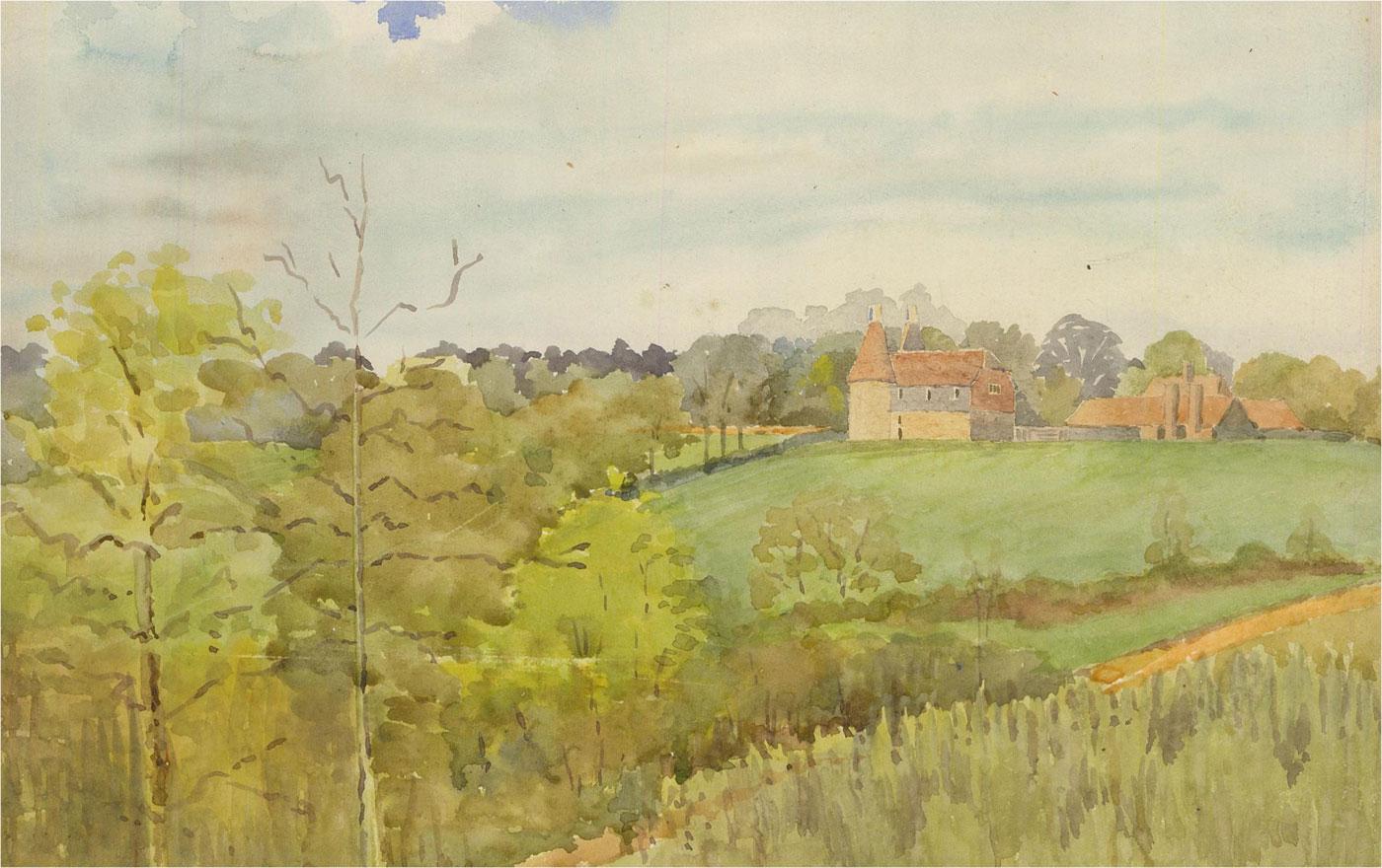 Raymond Turner Barker (1872-1945) - Early 20th Century Watercolour, Rural Farm