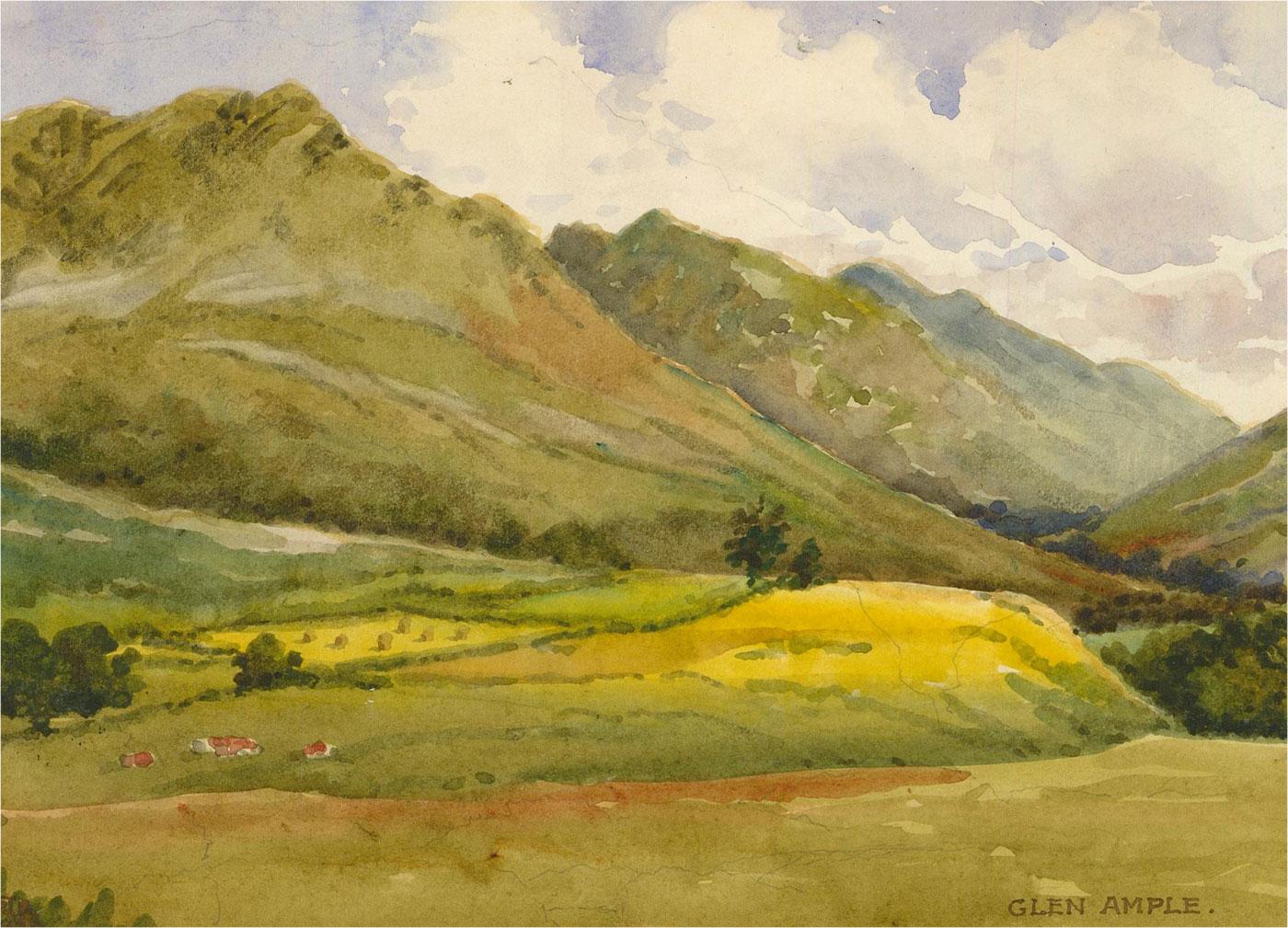 Raymond Turner Barker (1872-1945) - 1938 Watercolour, Glen Ample