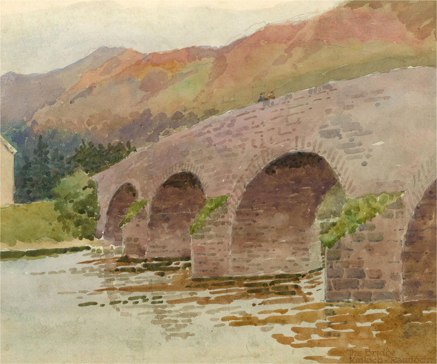 Raymond Turner Barker (1872-1945) - 1930 Watercolour, Kinloch Rannoch Bridge