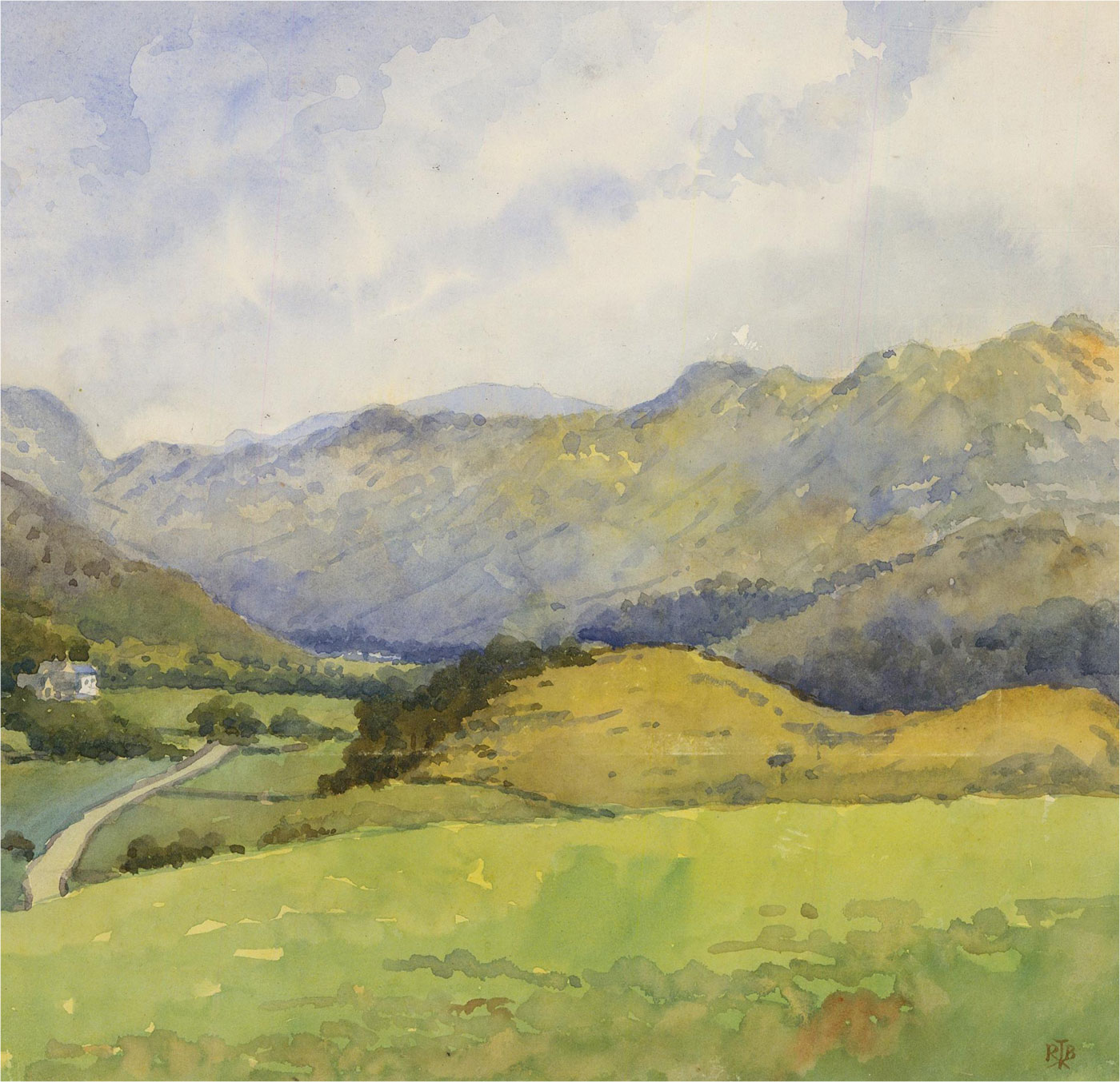 Raymond Turner Barker (1872-1945) - Early 20th Century Watercolour, Valley