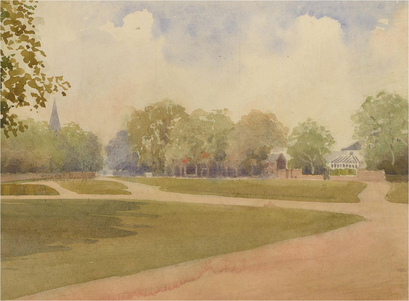 Raymond Turner Barker (1872-1945) - Early 20th Century Watercolour, Park