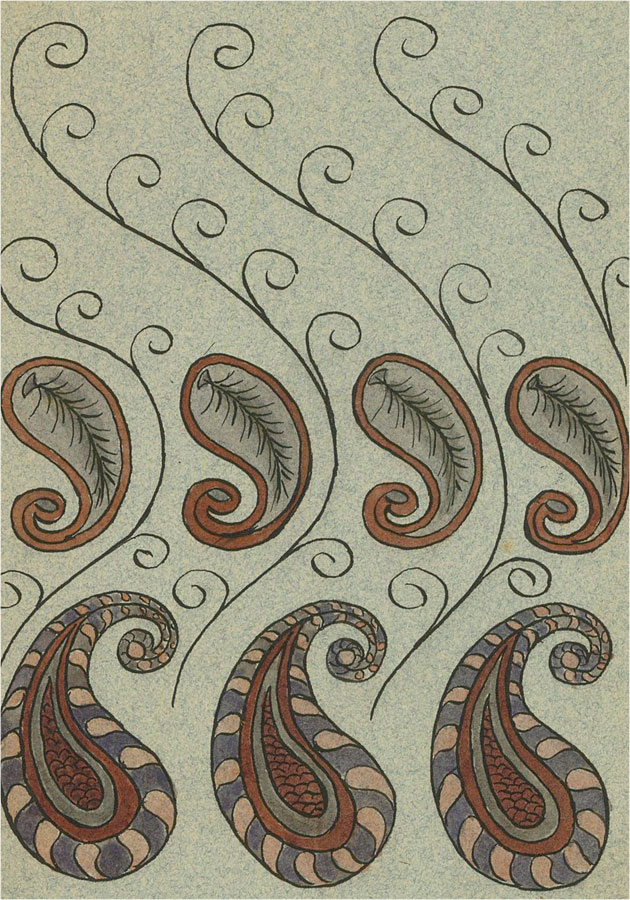 Raymond Turner Barker (1872-1945) - Pen and Ink Drawing, Embroidered Book Design