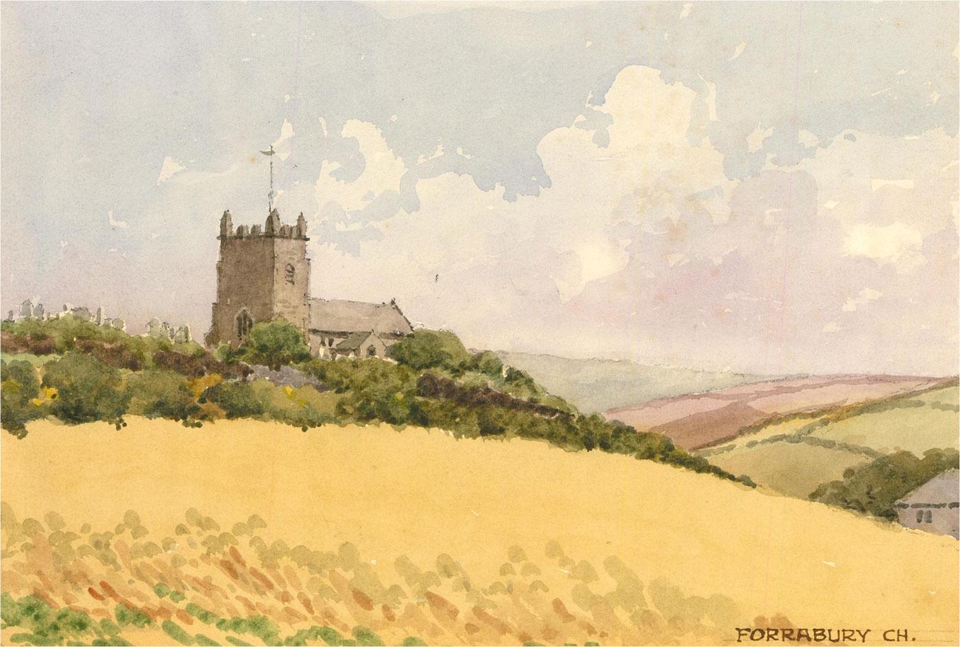 Raymond Turner Barker (1872-1945) - 1931 Watercolour, Forrabury Church