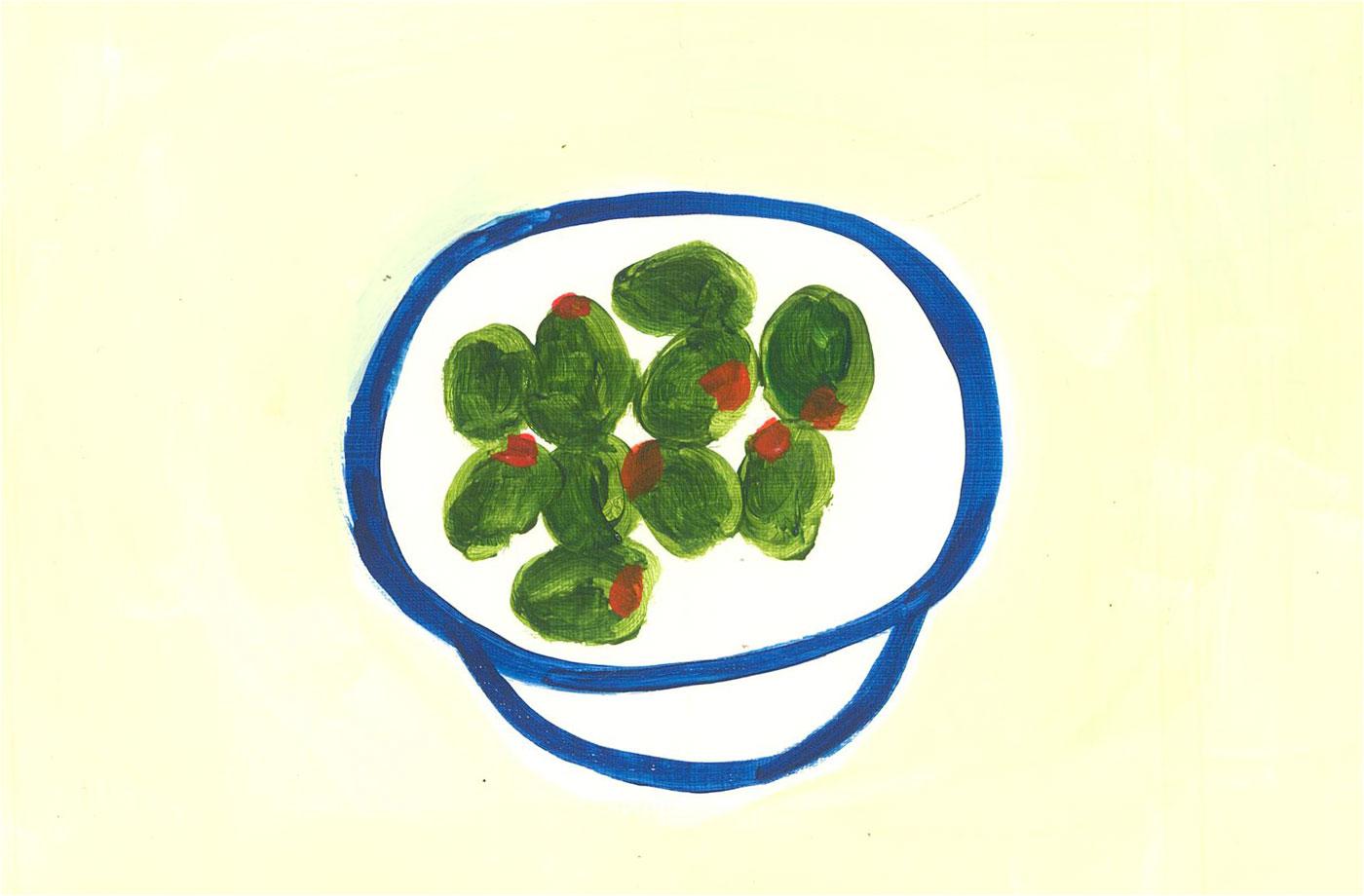Sian Roberts - 2021 Acrylic, Olives