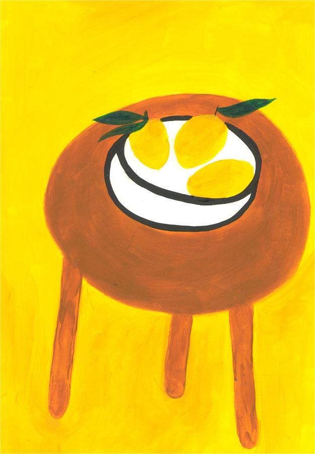 Sian Roberts - 2021 Acrylic, Lemons on a Table
