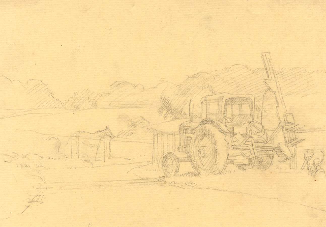 Good George Richards-corbett Set Of 10 20th Century Drawings Art