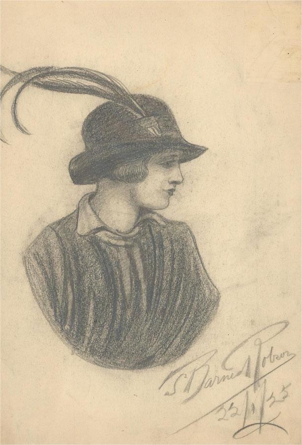 S. Barnes Robson (1900-1973) - 1925 Disegno In Grafite ...