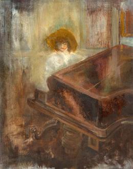 C. Heney - Fine 2015 Oil, Pianist