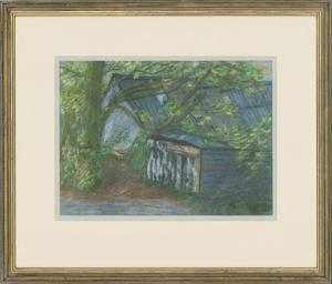 Barbara P. Morgan - Signed & Framed 20th Century Pastel, Meadow Farm