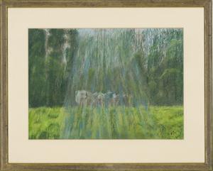 Barbara P. Morgan - Framed 20th Century Pastel, Apley Forge