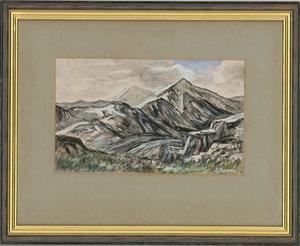 Edward Morgan (1933-2009) - 20th Century Watercolour, Snowdon, Wales