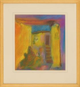 Barbara P. Morgan - 20th Century Pastel, Alleyway, France