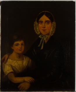 Fine Early 19th Century Oil - Portrait of a Mother and Child