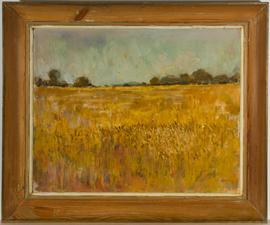 Ron Whittenbury (fl.1920-1955) - Signed & Framed 1977 Oil, Cornfield