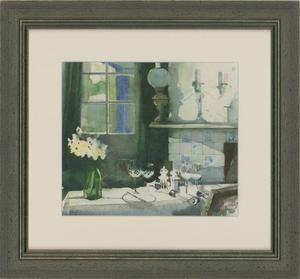Michael McGuinness RWS - Contemporary Watercolour, Farmhouse Interior