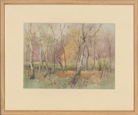 Framed Contemporary Watercolour - Autumn Wood