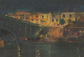 E.A. Grew - Mid 20th Century Oil, London by Night