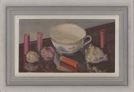 Framed Contemporary Oil - Still Life Study with Teacup