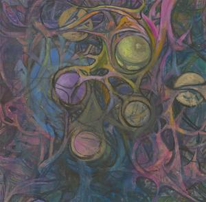 Margaret O. Hole (1919-2012) - 20th Century Oil, Cellular Abstraction