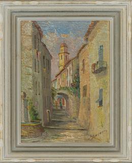 J. Baracco - Signed & Framed Mid 20th Century Oil, Villefranche-sur-Mer, France