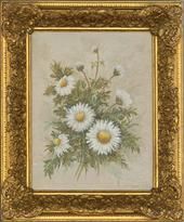 Joan Campbell SWA - 20th Century Oil, Daisies