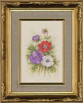 Joan Campbell SWA - 20th Century Oil, Anemones